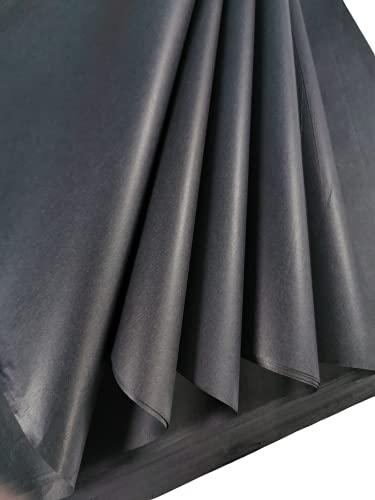 25 hojas de papel de seda negro, papel de seda sin ácidos, papel de seda artístico, papel de regalo para decoraciones,...