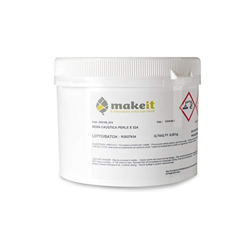 Soda caustica in perle (regolatore pH) per realizzare saponi - Make it (250 g)