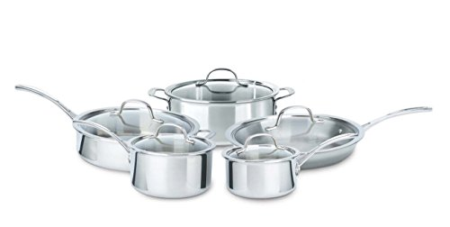 Calphalon 10 Piece Tri-Ply Cookware Set, Medium, Stainless Steel