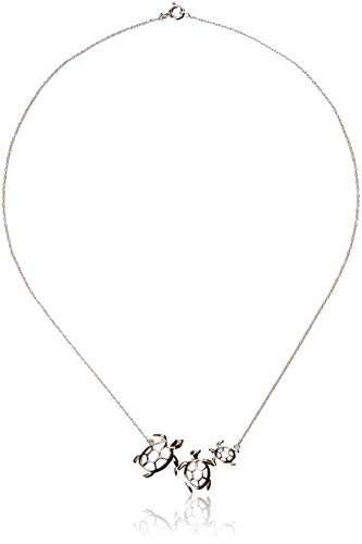 Sterling Silver Turtle Family Necklace, 18