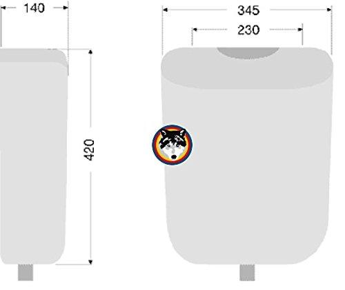 Pagette Ecolux WC Spülkasten 6 liter Farbe manhattan grau