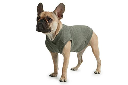 ESPAWDA Casual Stretch Comfort Cotton Dog Sweatshirt Sweater Vest for Small Dogs, Medium Dogs, Big Dogs (Large, Olive)