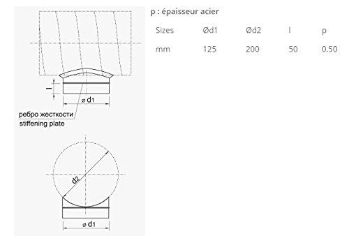 Acople Conector / Salida para conducto de aire Winflex 200mm (125mm)