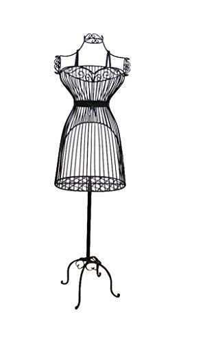 onlymannequins Female Steel Wire Mannequin Dress Form 36 21 40  on Decorative Stand (0003 BLK)