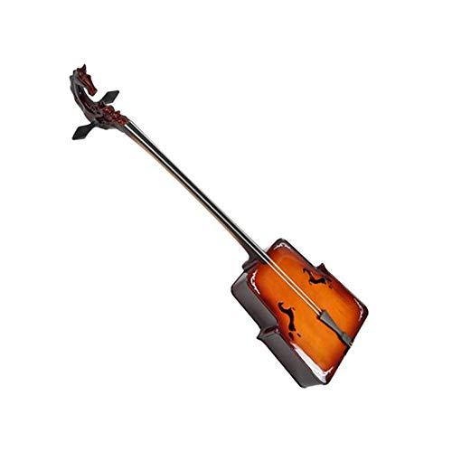 Jinnuotong Erhu, Profi-Spielstufe Violin-Typ Drache Matouqin Instrument mongolische Streichinstrumente Zubehör Nationale Musikinstrument , gekennzeichnet Holz ( Color : Natural )