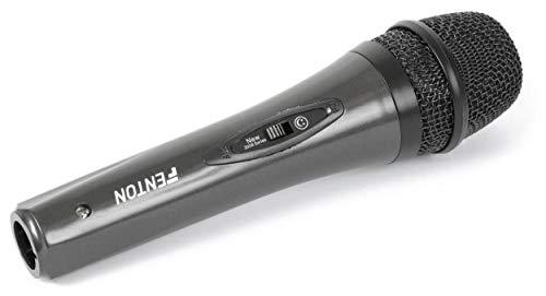 Fenton Micrófono DM105 dinámico de mano con cable interruptor on/off i cable de 3m