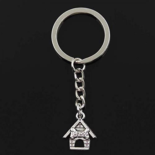 XHYKL Sleutelhanger 20x17mm top hond huis hondenhok Hangers DIY Mannen Auto Sleutelhanger Ring Houder Sleutelhanger Souvenir Sieraden Gift