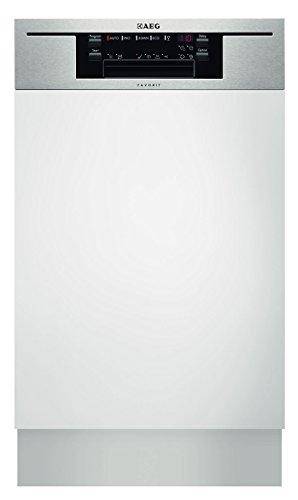 AEG F65412IM0P teilintegrierbarer Geschirrspüler / A++ A / 9 Maßgedecke / 45 cm / Edelstahl