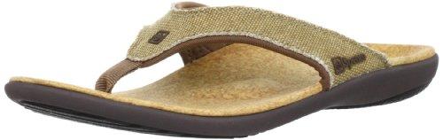 Spenco Men's Yumi Canvas Sandal, Straw/Java/Cork, 9M Medium US