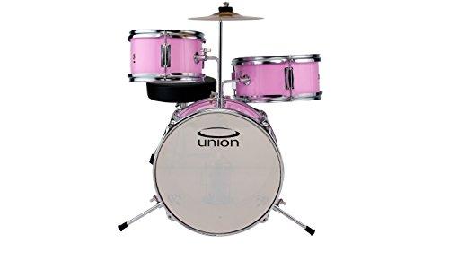 Union dbj3067(PK) 3-teilig Mini Spielzeug Schlagzeug mit Hardware, Becken und Thron–Pink -inch rose