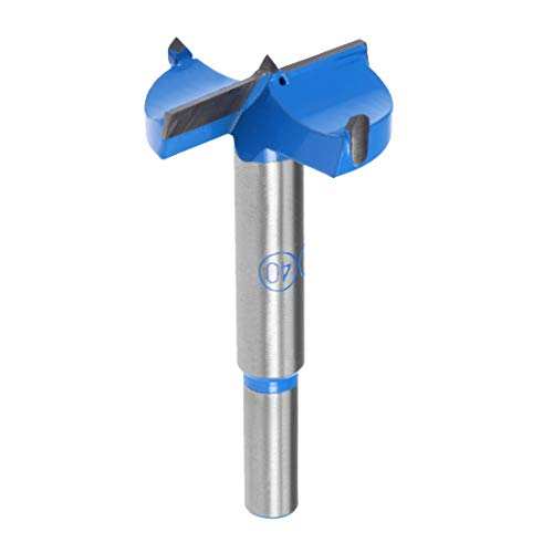 sourcingmap Forstner Drill Bits 40mm, Tungsten Carbide Wood Hole Saw Auger Opener, Woodworking Hinge Hole Drilling Boring Bit Cutter (Blue, Gray)