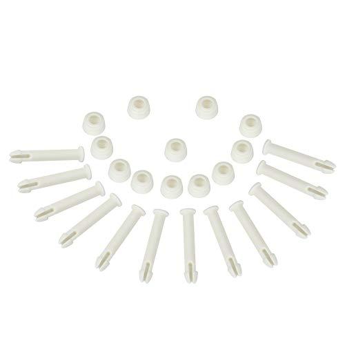 XIMALA Piezas de repuesto de piscina para Intex(12 unidades), Joint Pins 28270-28273 y Seals para Intex 13'-24' Frame&Round Pool Replacement Intexpool Replacement Replacement 5,5 cm de longitud