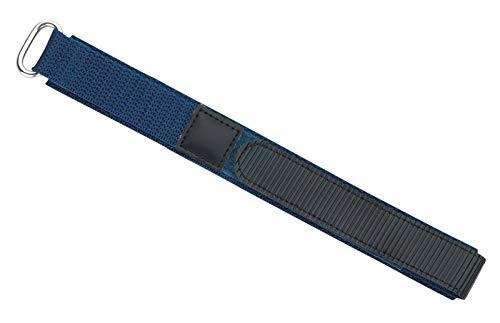 Eichmüller - Correa de Repuesto para Reloj de Pulsera, con Cierre de, 18 mm, Color Azul