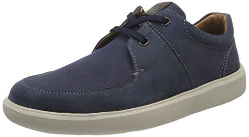 Clarks Cambro Lace, Zapatillas Hombre, Color Azul Oscuro Combinado, 44 EU