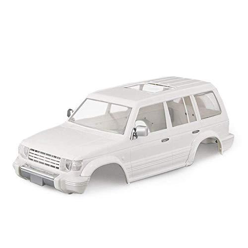Nuevo kit de carrocería de carcasa de coche con distancia entre ejes de 31 m para 1/10 RC Crawler Pajero V33 / V43 Axial SCX10 II 90046 Redcat GEN 8 Scout II repuestos Accesorios ( Color : White )