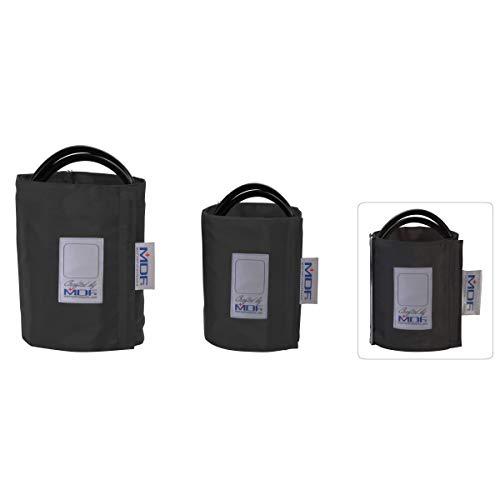 MDF® Latexfreie Blutdruckmanschette - Erwachsene - Einschlauch - D-Ring- Schwarz (MDF2100451D-11)