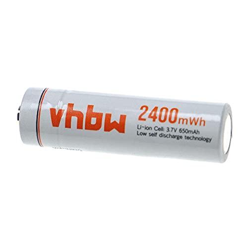 vhbw Akku AA Mignon - Wiederaufladbare Batterie, 650 mAh, 3,7 V, Li-Ion