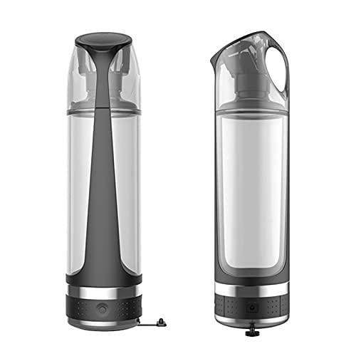 MEILINL Lonizador De Agua con Alto Contenido De Hidrógen Y Agua Saludable Vaso De Botella Portátil con USB Recargable Ideal para Viajes Y Actividades Al Aire Libre 450ML