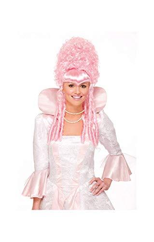 Roze Barokke Pruik
