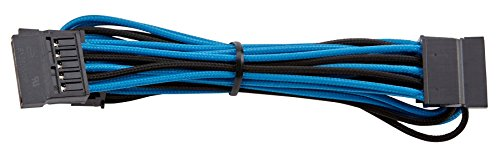 Corsair Internal Black Power Cable SATA, Female/Female, RMi series, RMx series, SF Series, Corsair Type 4 PSU, Blu/Nero
