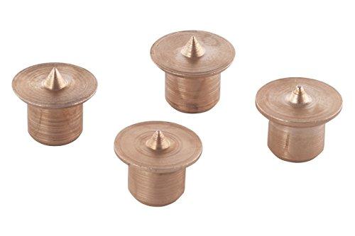 Wolfcraft 2912000 2912000-4 marcadores para espigar diam, Dorado, Ø 8 mm, Set de 4 Piezas
