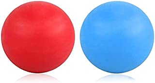ProChosen 2 Pack Massage Lacrosse Balls for Sore Muscles, Shoulders, Neck, Back, Foot, Body, Deep Tissue, Trigger Point, Muscle Knots, Yoga and Myofascial Release (Blue Red)