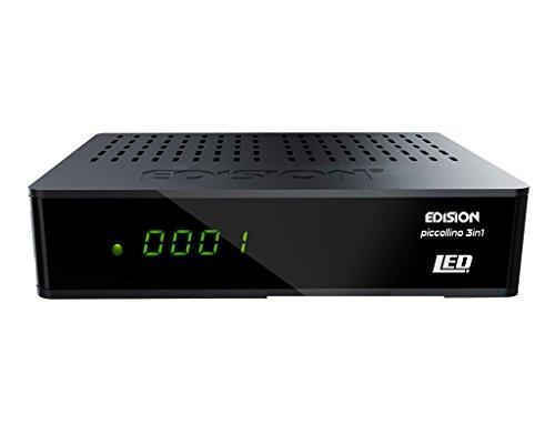 EDISION Piccollino 3in1 LED Full HD Tripple Receiver (DVB-S2/T/C, HDMI, USB, Conax Kartenleser) schwarz