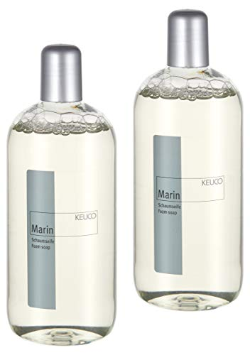 KEUCO Schaumseife 2er Set, Duft Marin, Inhalt 2 x 500ml, pH-neutral, geeignet für Schaumseifenspender Elegance (16049 und 11653), Plan (14957)