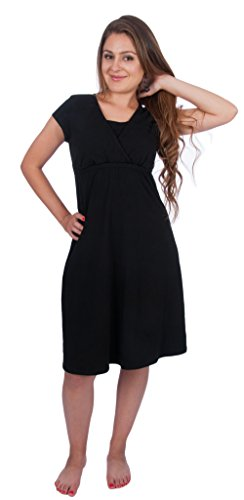 My Bella Mama Nursing Dress - Sophie Gown - Medium/Black