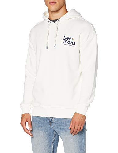 Lee Unisex-Adult Pride SWS Hooded Sweatshirt, White Canvas, XL