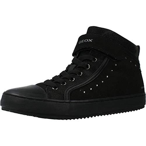 Geox J Kalispera Girl I, Zapatillas Altas para Niñas, Negro (Black), 37 EU