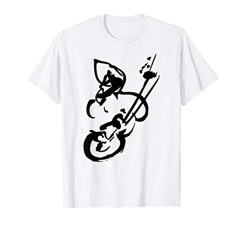 Guitarrista Figura Abstracto - Guitarra Flamenco - TINTA Camiseta