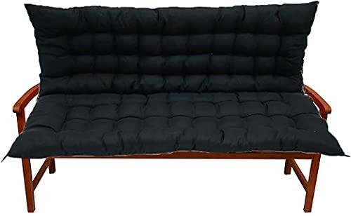 Muyuuu Cojín de Banco con Respaldo para jardín Patio Césped Metal de Madera Bancos de Metal, Swing 2-3 plazas de reclinación Grande para sillón cómodo Mapa de reemplazo de Muebles Antideslizantes