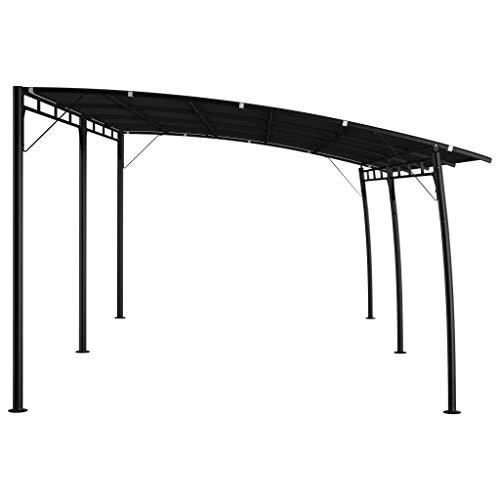 Tidyard Garten-Sonnenschutz Witterungsbeständig Pavillon Gartenpavillon Überdachung Partyzelt Pergola Terrasse Terrassenpavillon Gartenzelt 6 x 3 x 2,25 m Anthrazit