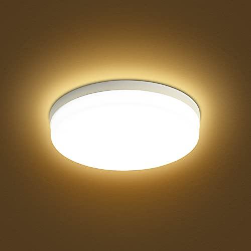 Lixada Lámpara de Techo Redonda LED de Montaje Empotrado de 48 W para Pasillo de Dormitorio de Cocina (luz cálida de 2800-3200 K)