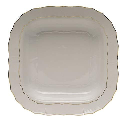 Herend Golden Edge Porcelain Square Serving Dish