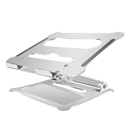 Aleación de aluminio portátil Laptop Stand de refrigeración ajustable soporte for el juego portátil (plata) ZHNGHENG