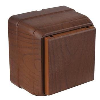 Mutlusan AP Serie Bron - Enchufe Schuko con tapa abatible, color madera de nogal, IP20, color nogal