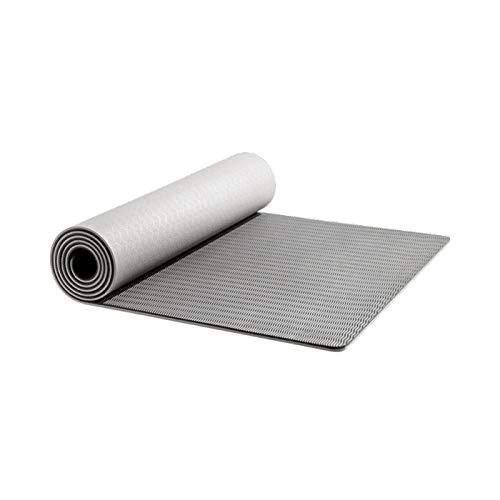 LKY Cómodo de Usar TPE Yoga Mat, Estera de Ejercicios de Piso de 6 mm, Gimnasia amigable con el Medio Ambiente Estera de Goma de Gimnasia para Principiantes, Gimnasia, Gimnasio Fitness,
