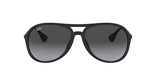 Ray-Ban Unisex Alex Sonnenbrille, (Gestell: Schwarz, Gläser: Grau Verlauf 622/8G), Large (Herstellergröße: 59)