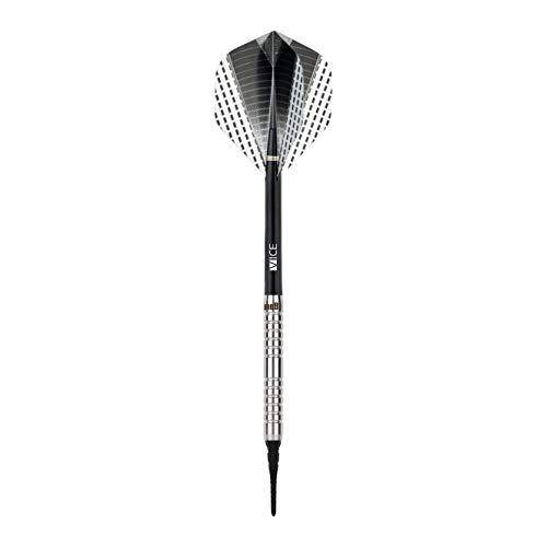 ONE80 Softdart Strike Serie Barrels 80% Tungsten Wolfram Softtip E-Darts Dartpfeil (01 Schwarz, 16g)