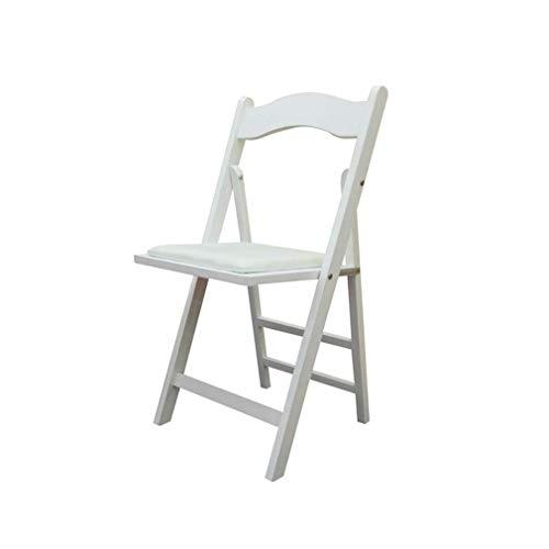 Chaise Pliante en Bois Blanc, Chaise de Salle à Manger, Chaise de Bureau Portable Simple Chaise extérieure Simple