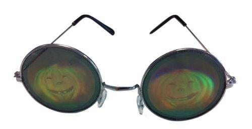 Generique - Lunettes métal Rondes avec Hologramme Citrouille