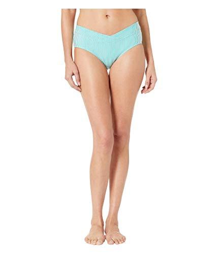 LAUREN RALPH LAUREN Seersucker Stripe Mid-Rise Pant Bottoms Aquamarine 6