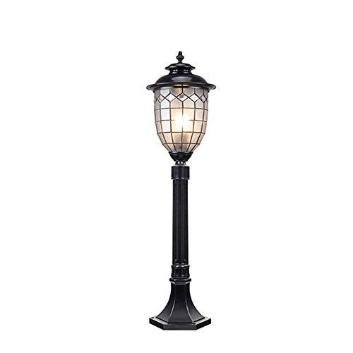 Elke leampp Europese lichtzuil Villa Hotel Park Lawn straatlicht antiek Plaid glazen lampenkap van aluminium waterdichte zuil patio tuin roestlamp