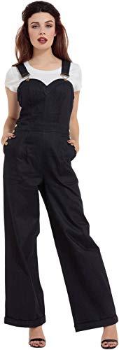 Voodoo Vixen Marlene Latzhose Frauen Latzhose blau XL 98% Baumwolle, 2% Elasthan Rockabilly
