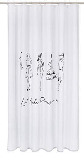 MSV Demoiselles, Duschvorhang, Polyester, 180 x 200 cm, Design, 200 x 180 cm
