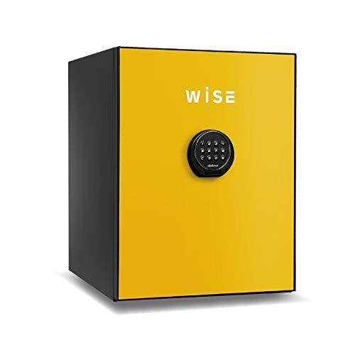 ディプロマット 60分耐火プレミアム金庫ワイズ WS500ALY テンキー式 警報アラーム付 イエロー 外寸: W404×D480×H522�o 有効内寸: W300×D300×H410�o