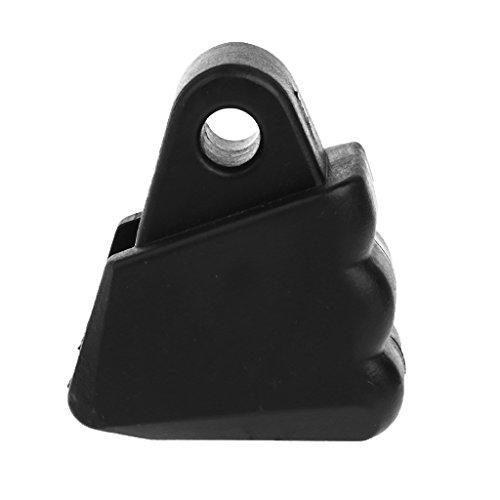 CUTICATE Verschleißfestigkeit PP Inline/Roller Skate Toe Stopper Ersatz 4,5 cm - Schwarz