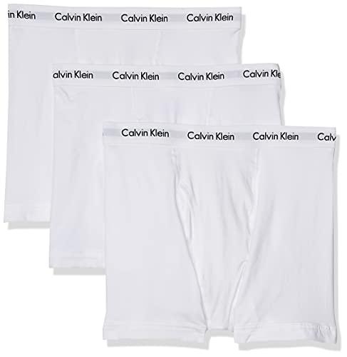 Calvin Klein Men s Cotton Stretch Multipack Boxer Briefs, White, Medium